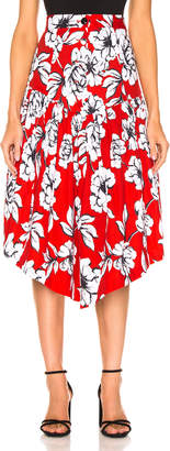 Marissa Webb Oliver Skirt in Peony Cardinal Red | FWRD