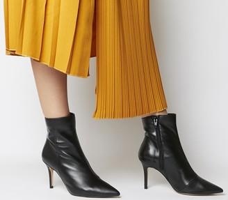 Office Acquaint Dressy Stiletto Boots Black Leather