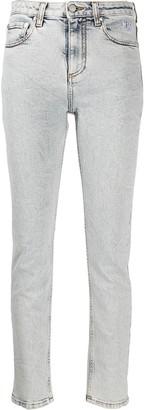 MSGM Logo Print Skinny Jeans