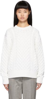 Rag & Bone White Aran Crewneck Sweater