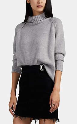 Barneys New York Women's Cashmere Turtleneck Sweater - Light Gray