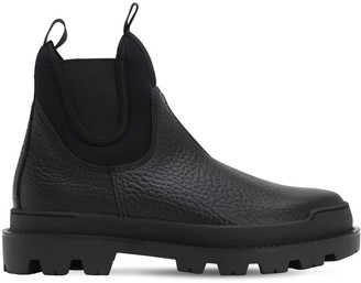 Prada Leather & Neoprene Chelsea Boots