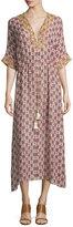 Figue Calista Medallion-Print Silk Dress, Thalie Floral