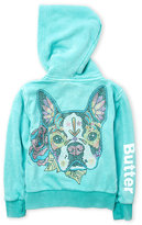 Butter Shoes Girls 4-6x) Studded Pitbull Zip-Up Hoodie