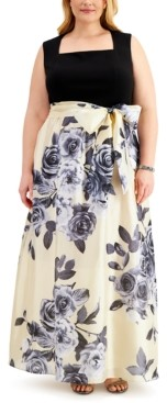 Night Way Nightway Plus Size Floral-Skirt Gown