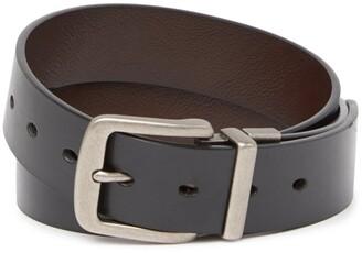 Original Penguin Cut Edge Leather Belt