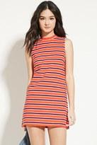 Forever 21 Striped Mock-Neck Shift Dress