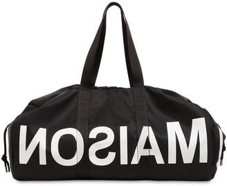 MM6 MAISON MARGIELA Large Printed Logo Nylon Bag