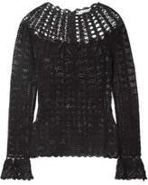 Ulla Johnson Heidi Crocheted Pima Cotton Top - Black