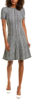 St. John Wool-Blend Fit & Flare Dress