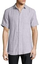 Saks Fifth Avenue Solid Pocket Linen Sportshirt