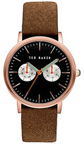 Ted Baker Brit Multifunction Suede-Strap Watch