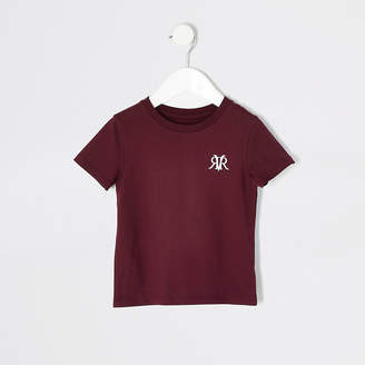 River Island Mini boys red RVR short sleeve T-shirt