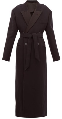 Raey Exaggerated Shoulder Wool Blend Tux Coat - Womens - Navy