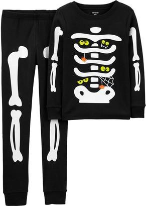 Carter's Boys 4-14 2-Piece Halloween Skeleton Snug-Fit Pajama Set