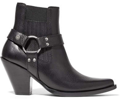 Maison Margiela Leather Ankle Boots - Black
