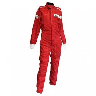 Tissot Red Cotton Jumpsuits