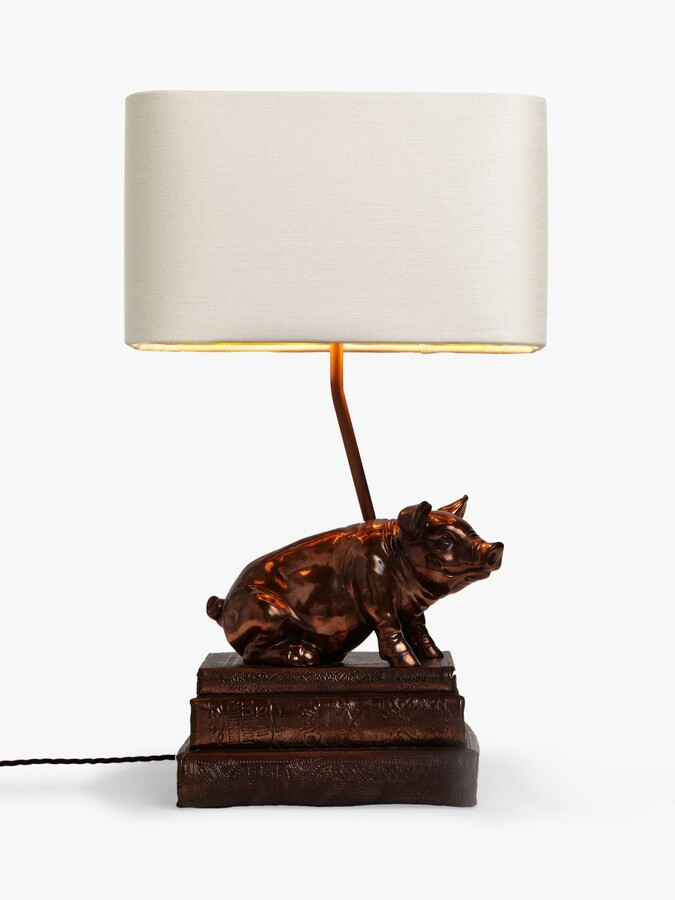 Thumbnail for your product : David Hunt Frank the Pig Table Lamp, Copper