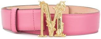 Moschino Logo Plaque Buckle Belt