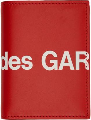 Comme des Garçons Wallets Red Huge Logo Bifold Card Holder