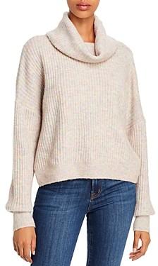 Aqua Rib-Knit Cowl Neck Sweater - 100% Exclusive