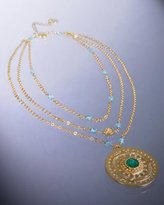 Lisa K gold 'Greece' pendant layered necklace