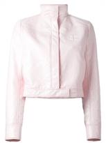 Courreges Cropped Vinyl Jacket - Pink