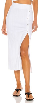 The Range Wave Rib Button Up Midi Skirt