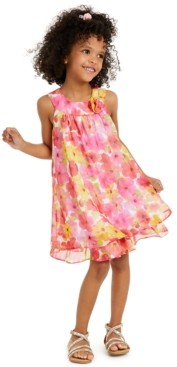 Blueberi Boulevard Little Girls Floral Dress