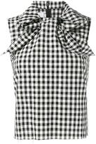 Marques Almeida Marques'almeida - sleeveless gingham top - women - Polyamide/Polyester - M