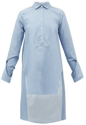 Palmer Harding Palmer//harding - Kast Dip-hem Cotton Shirt - Blue