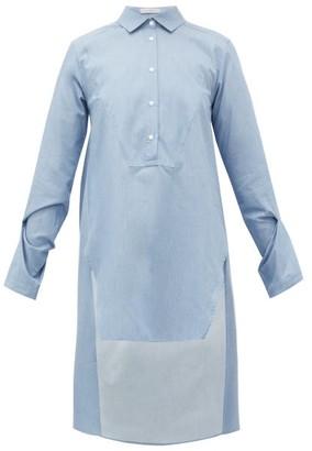 Palmer Harding Palmer//harding - Kast Dip-hem Cotton Shirt - Womens - Blue