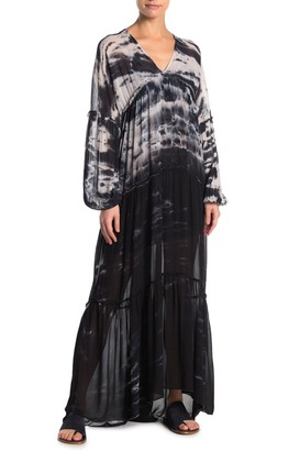 Young Fabulous & Broke Yfb By Josette Long Sleeve Tiered Maxi Dress