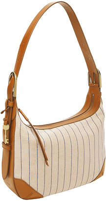 Fossil Women's Hobos - Cream & Brown Leather Hannah Hobo Bag
