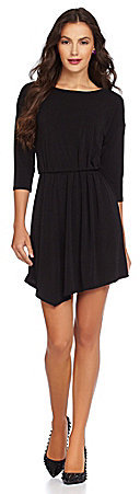 BCBGeneration Pleated Deep V-Back Dress