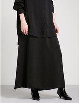 Yang Li Ineder high-rise crushed-satin skirt
