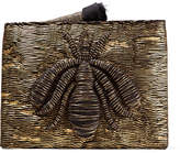 Sanayi 313 - Ragno Embroidered Metallic Woven Pouch - Gold