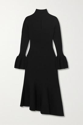 Temperley London Tillie Asymmetric Cutout Knitted Midi Dress