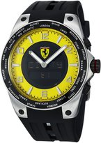 Ferrari Men's FE-05-ACC-YW Black Rubber Swiss Multifunction Watch with Dial