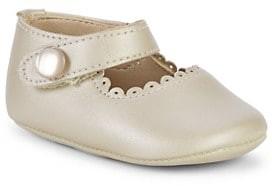 Elephantito Baby's Scallop Leather Mary Jane Flats