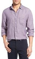 Rodd & Gunn Men's 'Halliwell' Trim Fit Linen Sport Shirt