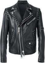Les Hommes Perfecto lace detail jacket