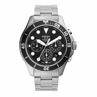 Fossil Men's FB-03 Quartz Stainless Chronograph Watch Color: Silver Green Dial (Model: FS5726)