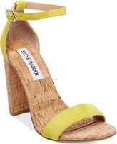 Steve Madden Women's Carrson Two-Piece Cork-Block-Heel Sandals