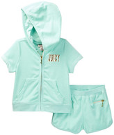 Juicy Couture Terry Hoodie & Short Set (Toddler Girls)