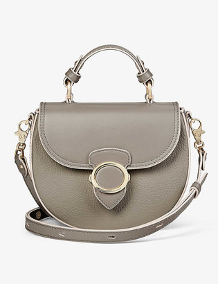 Aspinal of London Pebbled leather crossbody saddle bag