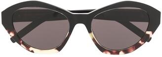 Saint Laurent Cat Eye Tortoiseshell Sunglasses