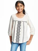Old Navy Embroidered Boho Swing Top for Girls