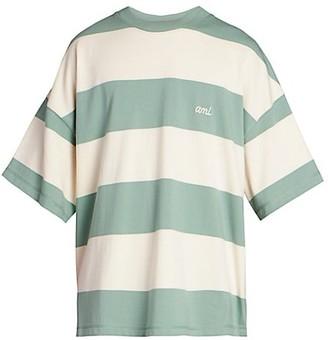 AMI Paris Rayures Stripe Rugby T-Shirt