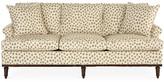 Michael Thomas Collection Garbo Sofa - Polka Cafe Sunbrella - frame, espresso; upholstery, cream/tan